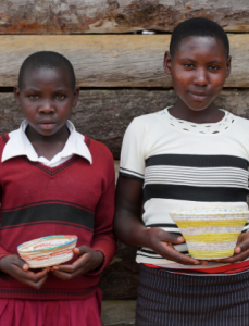 Girls from Empowerment Program with Baskets