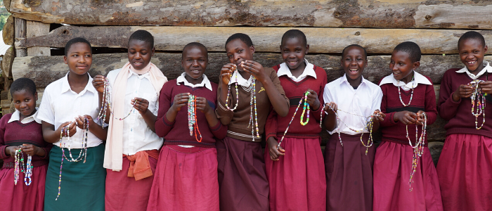 Girls from Empowerment Program with Necklaces