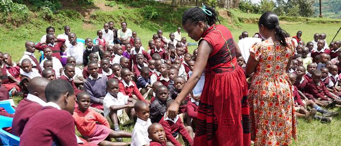 Girls in Empowerment Program in Class