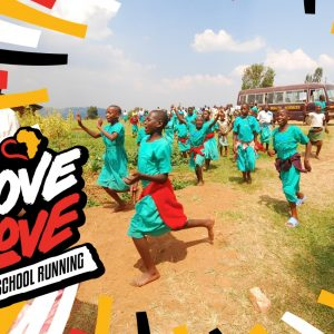 Girls Running in Uganda