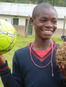 Boy with Soccer Balls