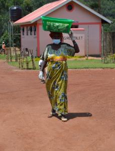 Woman From Cooperative Harvesting Mushrooms