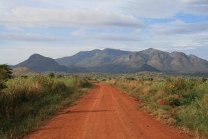 Ugandan Road & Mountains