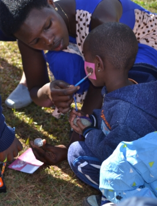 Face Painting at Amaani Gabato