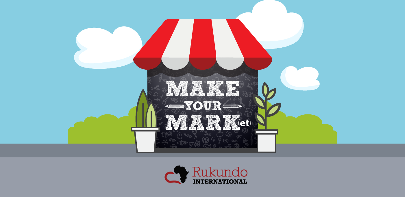 """Graphic of a market stand that says """"Make Your Mark(et)"""""""