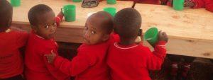 Preparatory School Kids Eating